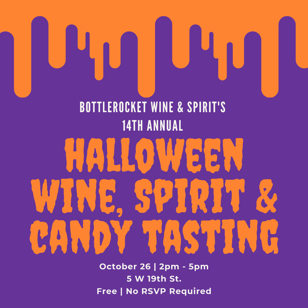 Halloween Free Wine Spirits and Candy Tasting